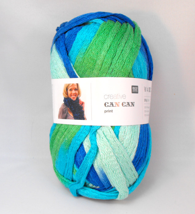 Wool Can Can Print - Turquoise