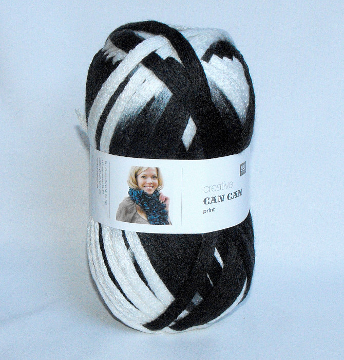 Wool Can Can Print - Black & White
